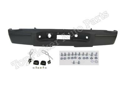 For 2011-2012 SILVERADO SIERRA 2500HD 3500 REAR STEP BUMPER BLACK SINGLE WHEEL