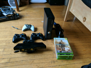 Xbox 360S with kinect
