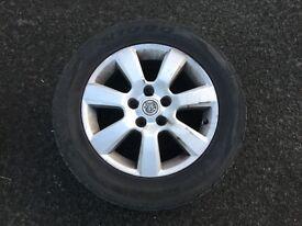 Very good condition summer tyre 4 aluminium with rim
