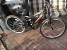 Full suspension and disc brake mountain bike