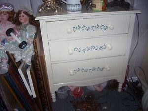 unique, dovetailed, painted, vintage accent dresser