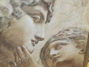 Large  Canvas Ancient Roman Man & Woman