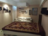 Grande chambre meublée disponible, foyer, disponible maintenant