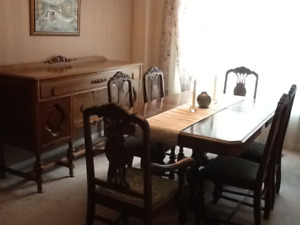 Real Wood Dining Table & Chairs For Sale