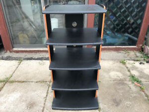 AV Media Stand with 5 Shelves for DVD Speaker Radio Components