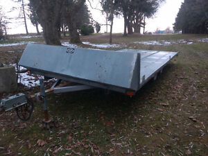 Rainbow four bed snowmobile trailer