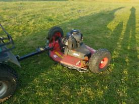 Quad atv logic trm120 grass paddock topper mower livestock tractor for sale  Motherwell, North Lanarkshire