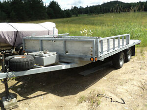 Heavy Duty Hot Dipped Galvanized Tandem Trailer