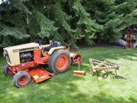 CASE 444 Hydrostatic Drive Garden Tractor and Attachments