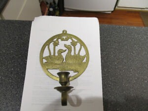 Vintage brass wall candle holder.