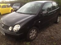 Breaking Volkswagen polo twist black 1.2 3 door hatchback petrol 2004 for parts