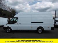 2008 FORD TRANSIT 350/115 EL LWB JUMBO DIESEL VAN *** 1 OWNER FROM NEW WITH ONLY