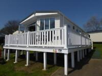 Extra-wide holiday home, 2 bed, 2 bath, decking included - sea view park, IOW