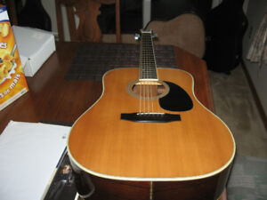 Fender F75 Acoustic Guitar, Made in Japan, D45 bodystyle