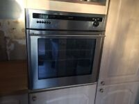 Diplomat single gas integrated oven with separate gas hob