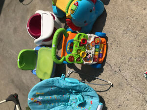 Booster, Bumble, bouncer chair and toys!!