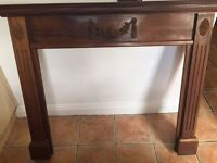 Real wood fire surround
