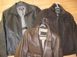 3 leather jackets; mens all in very good condition. 1 is new.