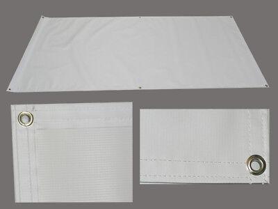 Blank Vinyl Sign Banner 2 X 4 Ft Premium Coated 13oz White Hem Grommets