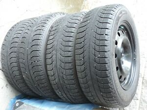 Michelin X-ICE winter tires 225/60R16 mtd on chev 5 bolt rim