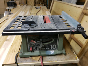 """Delta 10"""" table saw works great."""