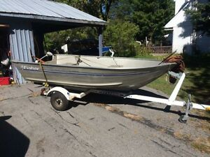 Fisher 12ft boat and trailer.