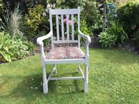 Carver Chair / Armchair ....painted & upholstered