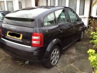 Audi a2 rear bumper black breaking spares
