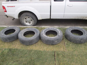 Set of 4 235/75R15 tires