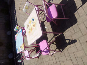 Princess tables and chairs.
