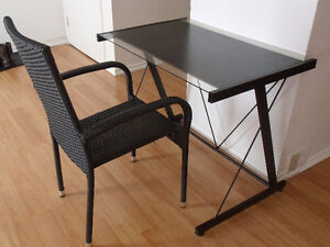 Laptop desk and prisca chair
