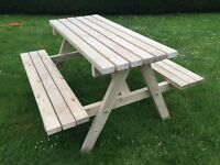 Picnic bench for sale. Condition New!