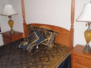 QUEEN SIZE BEDROOM SET 2 NIGHT TABLES ALMIRAH & CENTRE TABLE