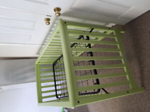 green crib (came that color from store)