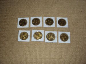 8 OLYMPIC WINTER GAMES COINS 1998 MCDONALDS, GRETZKY, SAKIC, ROY