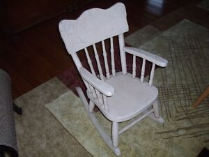 Childs Antique Rocker - Press Back