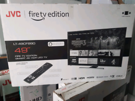 TV BRAND NEW 49INCH JVC FIRETV EDITION ALEXA SMART WIFI 4K ULTR HD HDR
