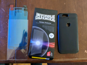 Nexus 6p screen protector et case