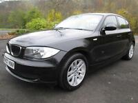 07/07 BMW 118D ES 5DR HATCH IN MET BLACK WITH SERVICE HISTORY