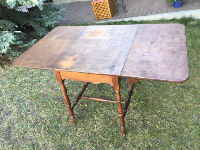Antique Folding Sides Table Sold As Found Arts Collectibles Saskatoon Kijiji