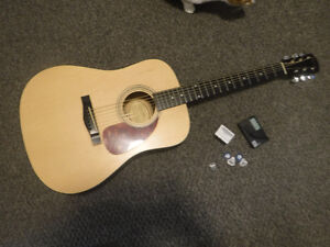 Fender Squier Acoustic Guitar with Picks and 2 Tuners