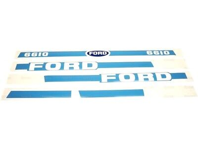 Bonnet Decal Set Fits Ford 6610 Tractors With Cab