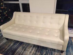 White Leather Sofa on Sale!