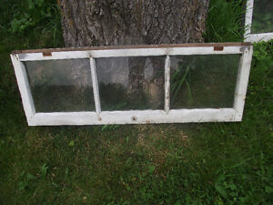 Vintage Wood Framed 3-pane windows.