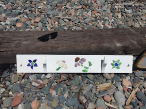 Beach glass wall hanger