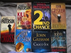 7 Books...Patterson, Grisham. Big guns in Best Sellers