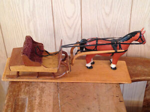Vintage Handmade Wooden Horse and Sleigh Stratford Kitchener Area image 2