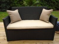 GORGEOUS RESIN WICKER LOVESEAT *** CAN DELIVER