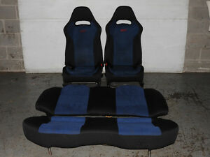 2001 2006 Subaru WRX STi Blue Seats Sti Version 7 Front and Back