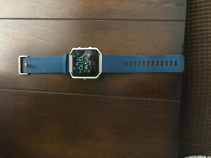 Lightly Used Fitbit Blaze Navy Blue Large Band